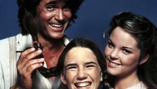 """""""Unsere kleine Farm"""": Michael Landon, Melissa Gilbert, Melissa Sue Anderson"""