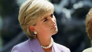Lady Diana in Versace