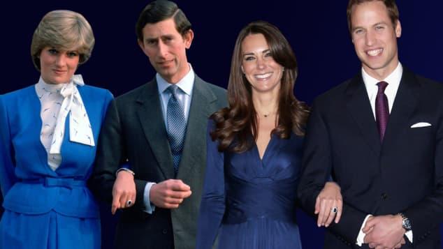 Lady Diana, Prinz Charles, Herzogin Kate und Prinz William