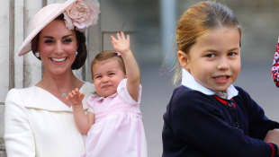 Transformación del infante real de la princesa Charlotte a la mini-m de mamá