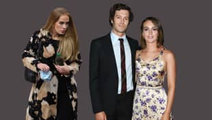 Adele und Adam Brody mit Leighton Meester