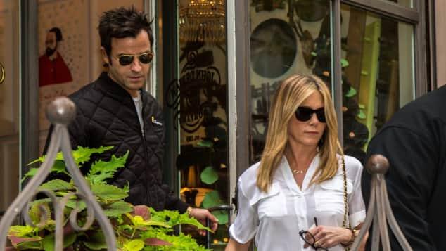 Justin Theroux und Jennifer Aniston in New York