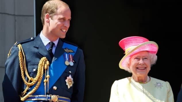 Pirinz William und Queen Elisabeth II.