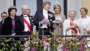 Königin Silvia, König Carl Gustav, König Willem-Alexander, Königin Maxima und Prinzessin Beatrix