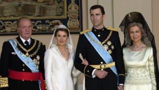 Juan Carlos Königin Letizia König Felipe und Sophia