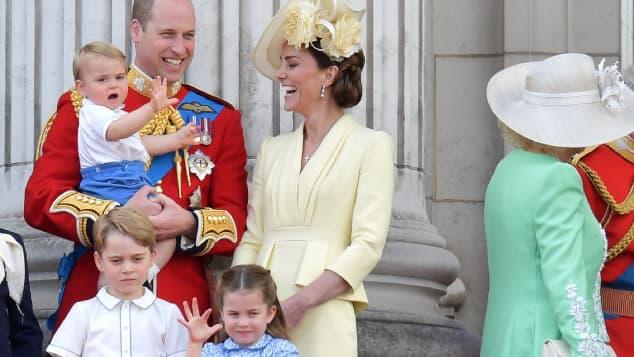 Prinz William und Herzogin Kate mit Kindern