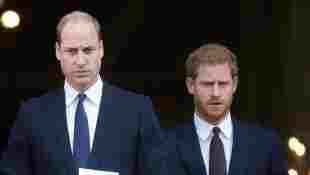 Prinz William und Prinz Harry beim Grenfell Tower National Memorial Service am 14. Dezember 2017