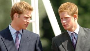 Prinz William und Prinz Harry bei der Einweihungszeremonie des Lady Diana gewidmeten Brunnens