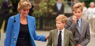 Lady Diana mit Prinz Harry und Prinz William 1995