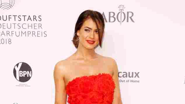 Jessica Paszka auf dem Roten Teppich bei der Verleihung des Duftstars – Deutscher Parfumpreis am 25. April 2018