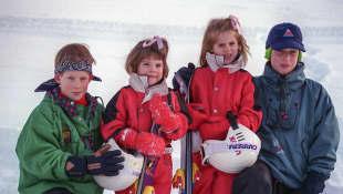 Prinz Harry, Prinzessin Eugenie, Prinzessin Beatrice und Prinz William