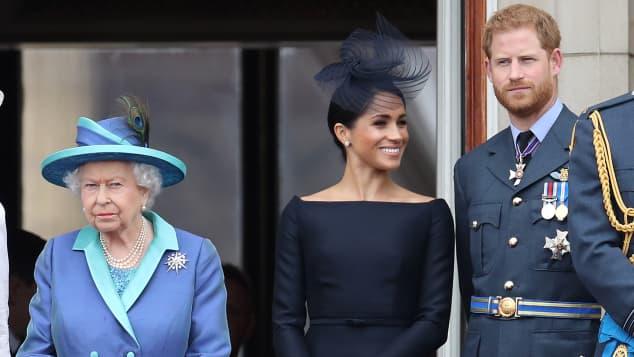 Königin Elisabeth, Herzogin Meghan, Prinz Harry