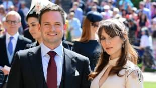 Patrick J. Adams und Troian Bellisario Herzogin Meghans Hochzeit