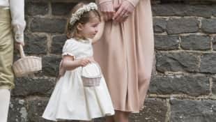 Herzogin Kate und Prinzessin Charlotte auf der Hochzeit von Pippa Middleton 2017