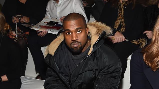 Kanye West bei der Mercedes-Benz Fashion Week 2015