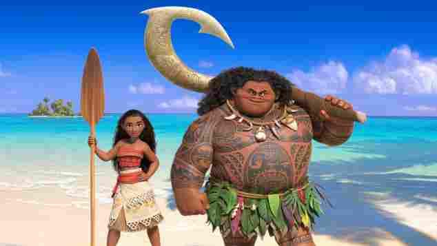 """Die Figuren """"Vaiana"""" und """"Maui"""" im Disney-Film """"Vaiana"""" aus dem Jahr 2016"""