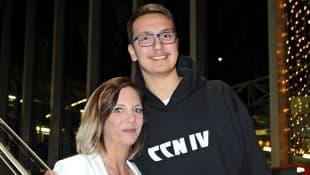 Danni Büchner mit ihrem Sohn Volkan