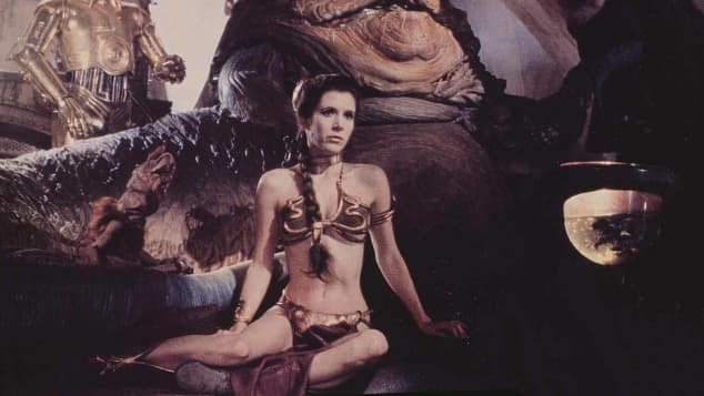 "Carrie Fisher in ""Star Wars"""