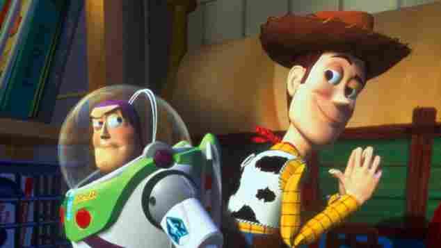 """Buzz Lightyear und Woody in """"Toy Story"""""""