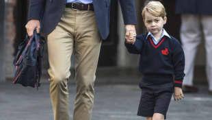 Prinz George an seinem ersten Schultag
