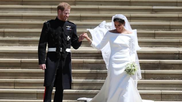 Prinz Harry und Herzogin Meghan während ihrer Hochzeit
