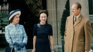 Queen Elisabeth II., Prinz Philip und Wallis Simpson