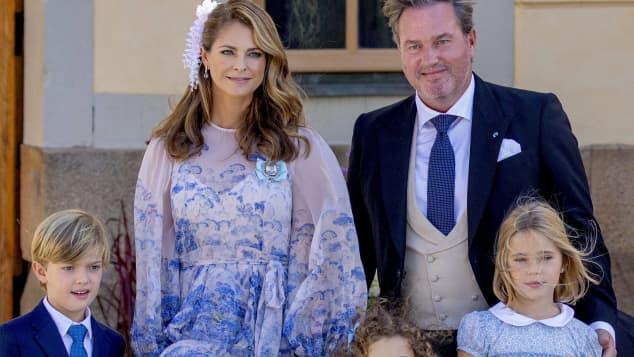 Prinzessin Madeleine mit ihrer Familie