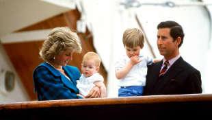 Lady Diana, Prinz Charles, Harry und William