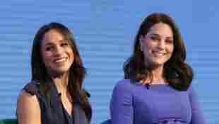 Herzogin Meghan und Herzogin Kate beim ersten jährlichen Royal Foundation Forum am 28. Februar 2018