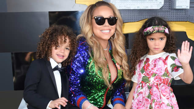 Mariah Carey mit ihren Kindern Morrocco und Monroe bei der Lego Batman Filmpremiere in Los Angeles 2017
