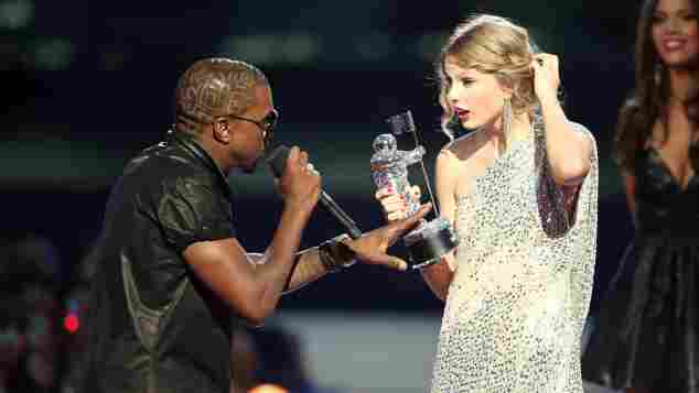 Kanye West und Taylor Swift bei den MTV VMAs am 13. September 2009