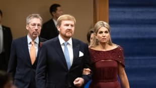 königin máxima, könig willem-alexander staatsbankett japan