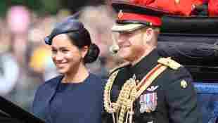 Herzogin Meghan und Prinz Harry bei der Militärparade Trooping The Colour
