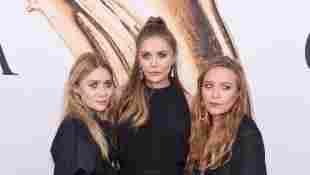 Elizabeth Olsen mit ihren Schwestern Mary-Kate und Ashley Olsen bei den 2016 CFDA Fashion Awards am 6. Juni 2016