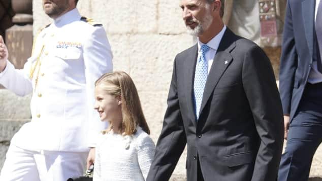 Leonor von Spanien und ihr Vater König Felipe von Spanien