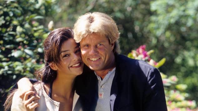 Verona Pooth, damals noch Feldbusch, mit Dieter Bohlen 1996