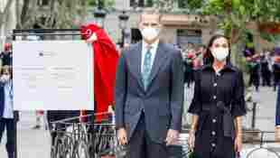 König Felipe und Königin Letizia von Spanien bei der Einweihung eines Gedenkzentrums in Vitoria-Gasteiz am 1. Juni 2021