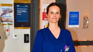 Sofia von Schweden als Helferin im Krankenhaus Sophiahemmet