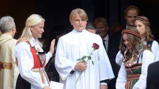Prinzessin Mette-Marit, Prinz Sverre Magnus und Prinzessin Ingrid Alexandra