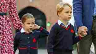 Prinzessin Charlotte und prinz george zur schule schuluniform