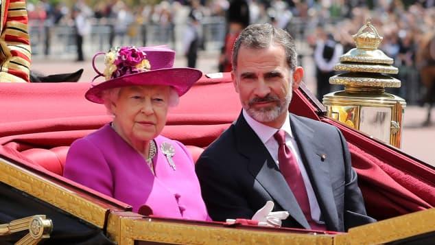 Königin Elisabeth König Felipe