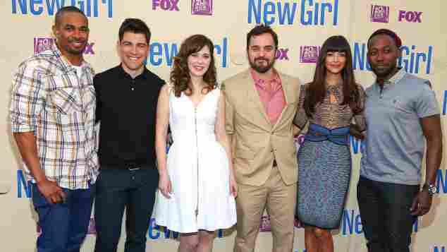 """Der Cast von """"New Girl"""" beim Screening des Finales der dritten Staffel 2014"""