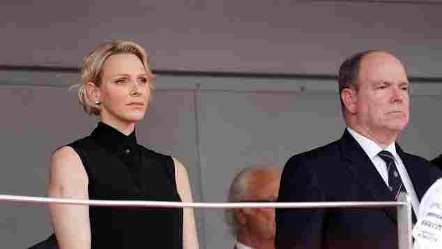 Fürstin Charlène von Monaco Fürst Albert II von Monaco Formel 1