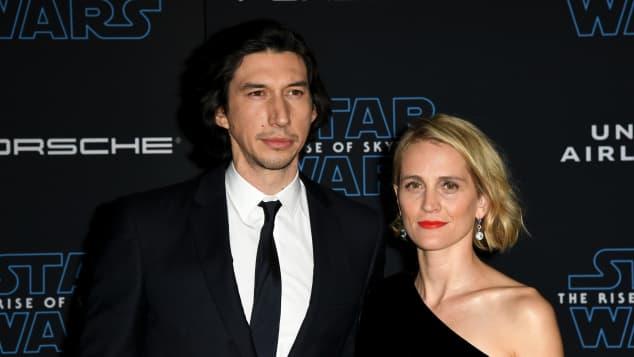 Adam Driver Frau Joanne Tucker Star Wars Premiere Skywalker