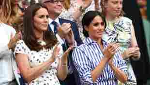 Herzogin Kate und Herzogin Meghan bei einem Tennis-Match 2014