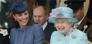 Herzogin Kate und Königin Elisabeth II.