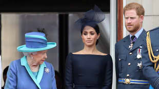 Königin Elisabeth, Herzogin Meghan und Prinz Harry