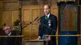 Prinz William spricht bei einer Rede in Edinburgh über den Tod von Lady Diana