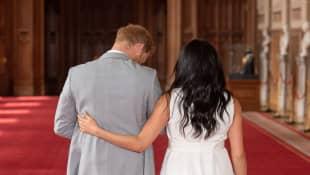 Prinz Harry und Herzogin Meghan nach dem ersten Fotoshooting mit ihrem Sohn Archie