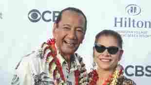 Al Harrington und Rosa Navarro-Hoffman beim Hawaii Five-O and Magnum P.I. Sunset On The Beach Event am 19. September 2019